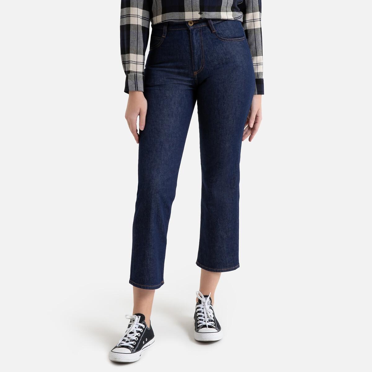 Джинсы La Redoute Широкие укороченные с завышенной талией 36 (FR) - 42 (RUS) синий джинсы la redoute узкие для периода беременности 36 fr 42 rus серый