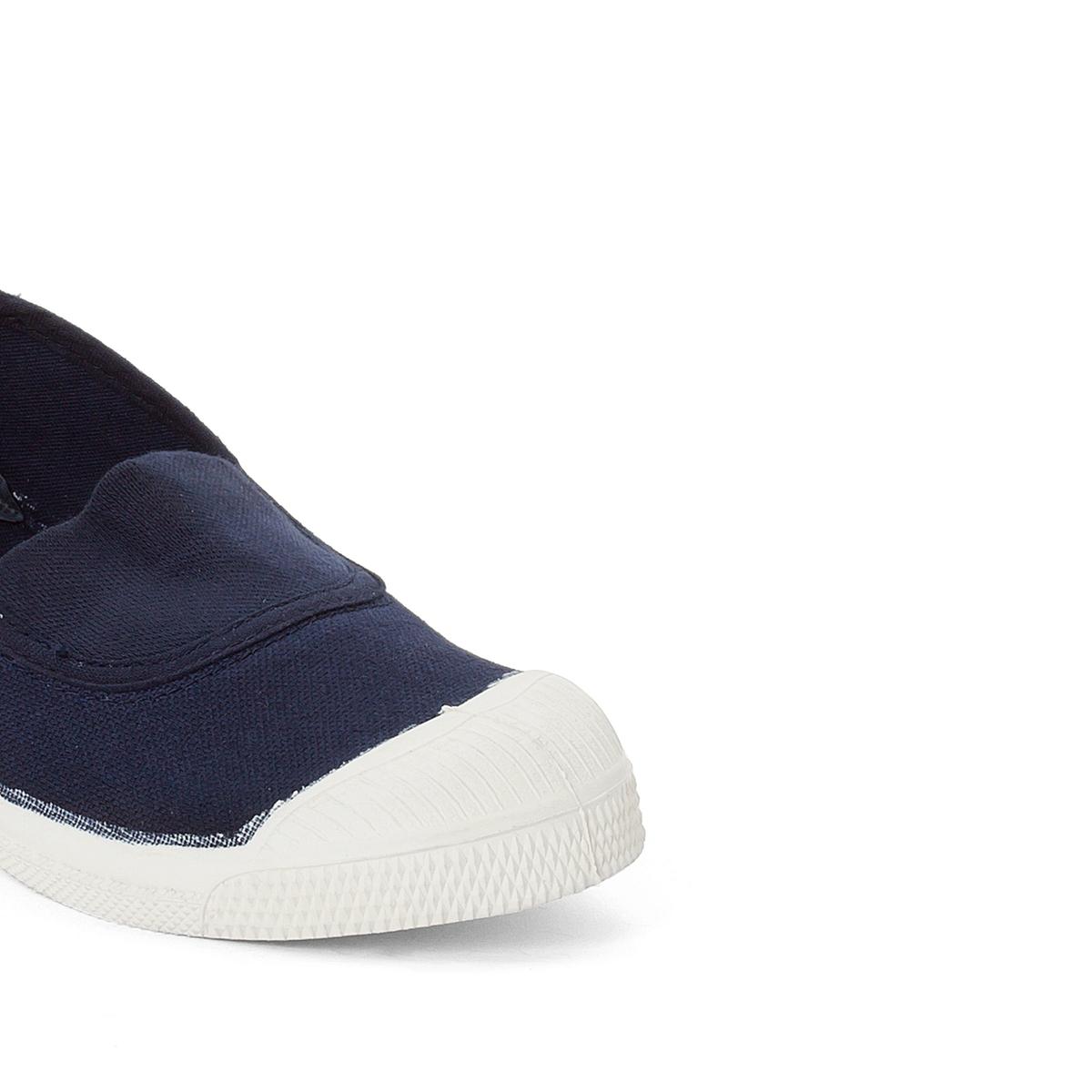 Кеды  ElastiqueОписание:Детали •  Спортивный стиль •  Плоский каблук •  Застежка : эластичная вставкаСостав и уход •  Верх 100% ткань •  Подкладка 100% текстиль •  Стелька 100% текстиль •  Подошва 100% каучук<br><br>Цвет: темно-синий<br>Размер: 35.34