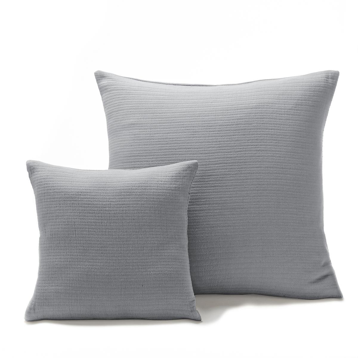 лучшая цена Наволочка La Redoute На подушку-валик или наволочка на подушку ILHOW 40 x 40 см серый