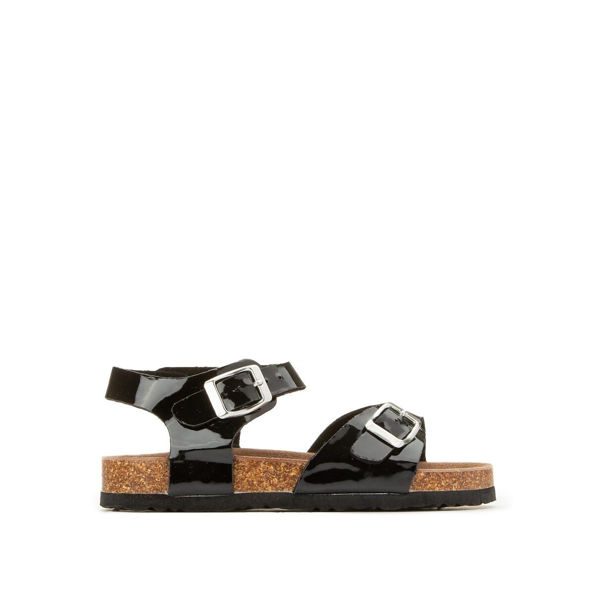 мокасины la redoute кожаные лакированные с кисточками размеры 32 черный Босоножки LaRedoute Лакированные размеры 26-39 32 черный