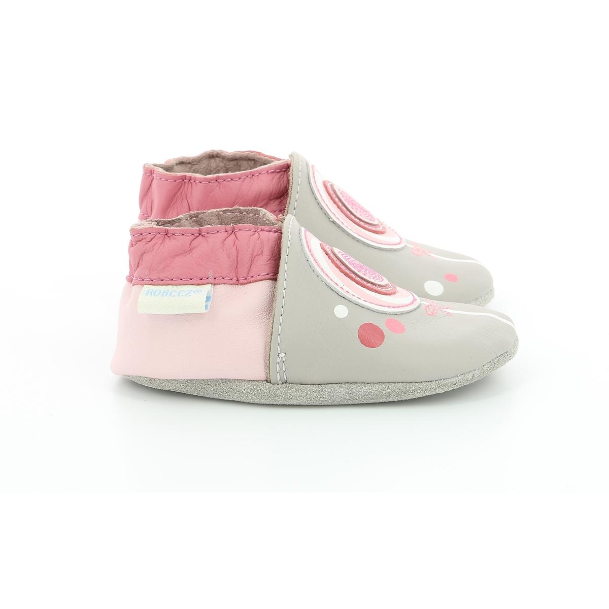Туфли без задника из кожи Lollipop color block lollipop shaped brooch