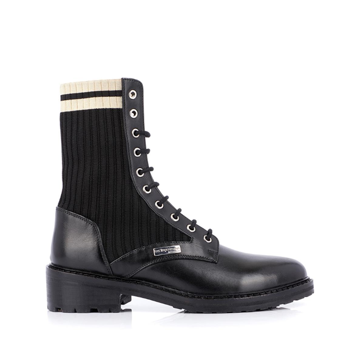 Ботинки La Redoute Из кожи Zina 39 черный