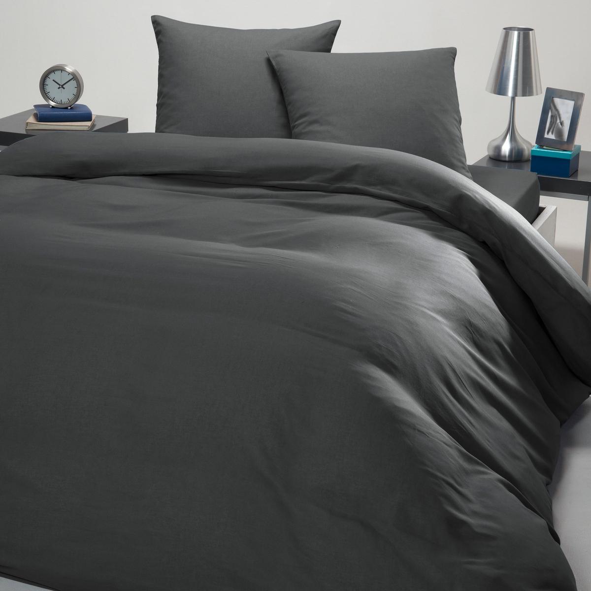 Постельный набор пододеяльник + наволочка, UNIДоставьте себе удовольствие, купив за небольшую цену это постельное белье из 100% хлопка.Характеристики постельного белья:- 100% хлопок  (47 нитей/см?). Чем больше нитей/см?, тем выше качество материала.- 2 разреза на пододеяльнике обеспечивают легкое заправление одеяла. Прямой низ.- Стирка при 60°.Односпальное постельное белье состоит из 1 пододеяльника 140 x 200 + 1 наволочки 63 x 63 см.Двухспальное постельное белье состоит из 1 пододеяльника  200 x 200 или 240 x 220 + 2 наволочек 63 x 63 см.<br><br>Цвет: антрацит,синий<br>Размер: 240 x 220  см.200 x 200  см.260 x 240  см