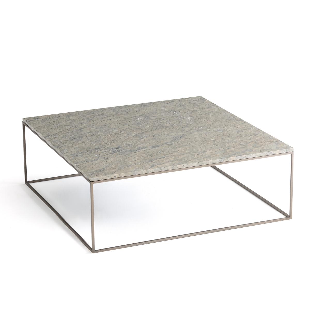 Стол журнальный из металла и серого мрамора, Mahaut