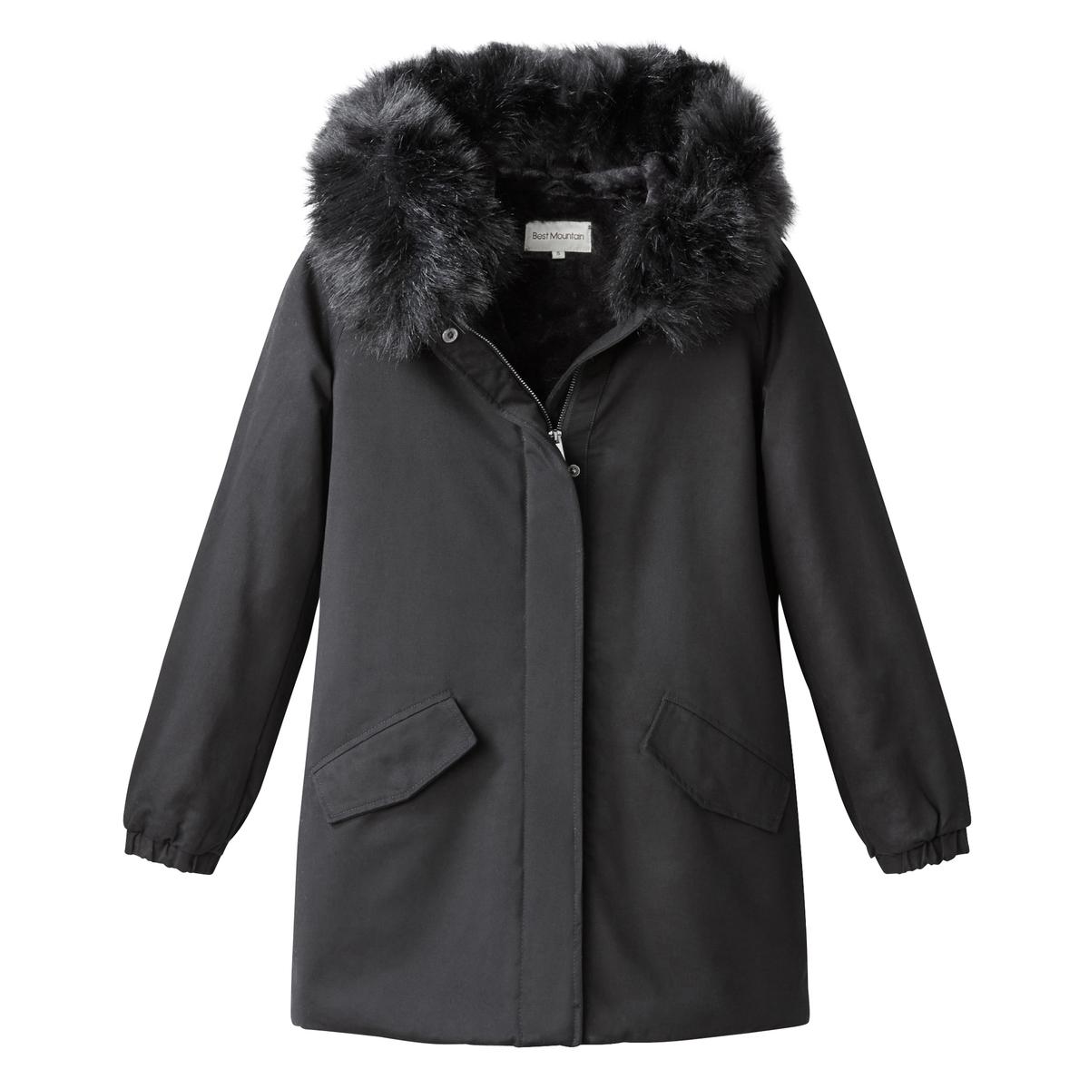 Парка средней длины с капюшоном куртка средней длины с капюшоном