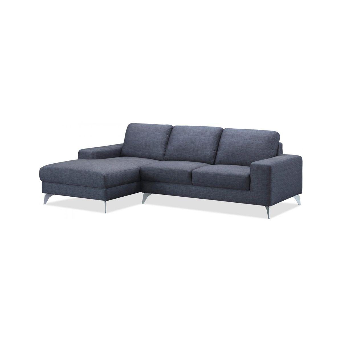Canapé d'angle gauche WALK CHABLIS tissu