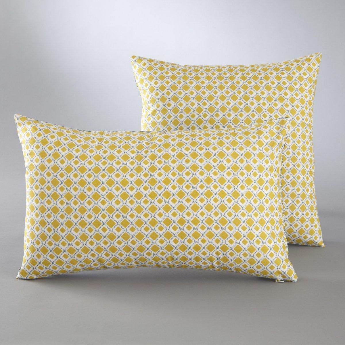 Чехол La Redoute Для подушки с галстучным рисунком MASHITA 50 x 30 см желтый льняной la redoute чехол для подушки georgette 50 x 30 см желтый