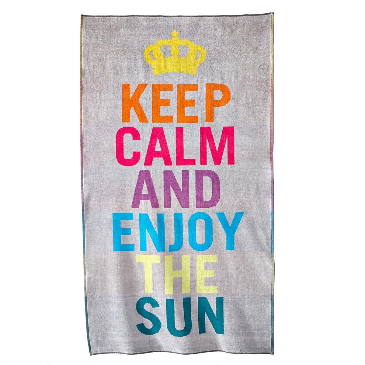 Пляжное полотенце, 420 г/м?, ObidosПляжное полотенце из махровой ткани с узором, 100% хлопка, 420 г/м?. Мягкое, пышное и отлично впитывающее полотенце. Стирка при 60°.Размеры пляжного полотенца : 100 x 180 см.<br><br>Цвет: серый