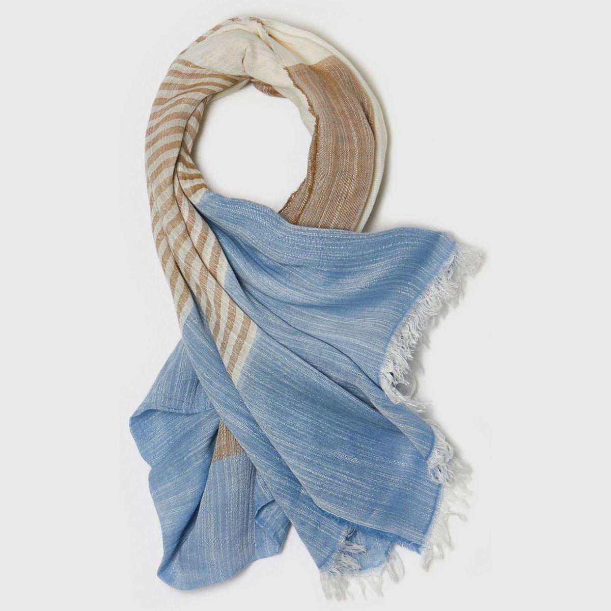 Echarpe bicolore   en coton mélangé