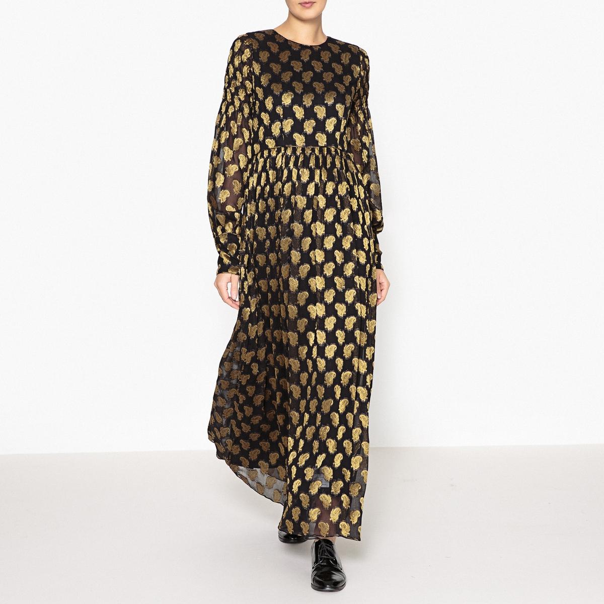 Платье длинное FLOWER LAURENCE BRAS. Цвет: черный/ золотистый