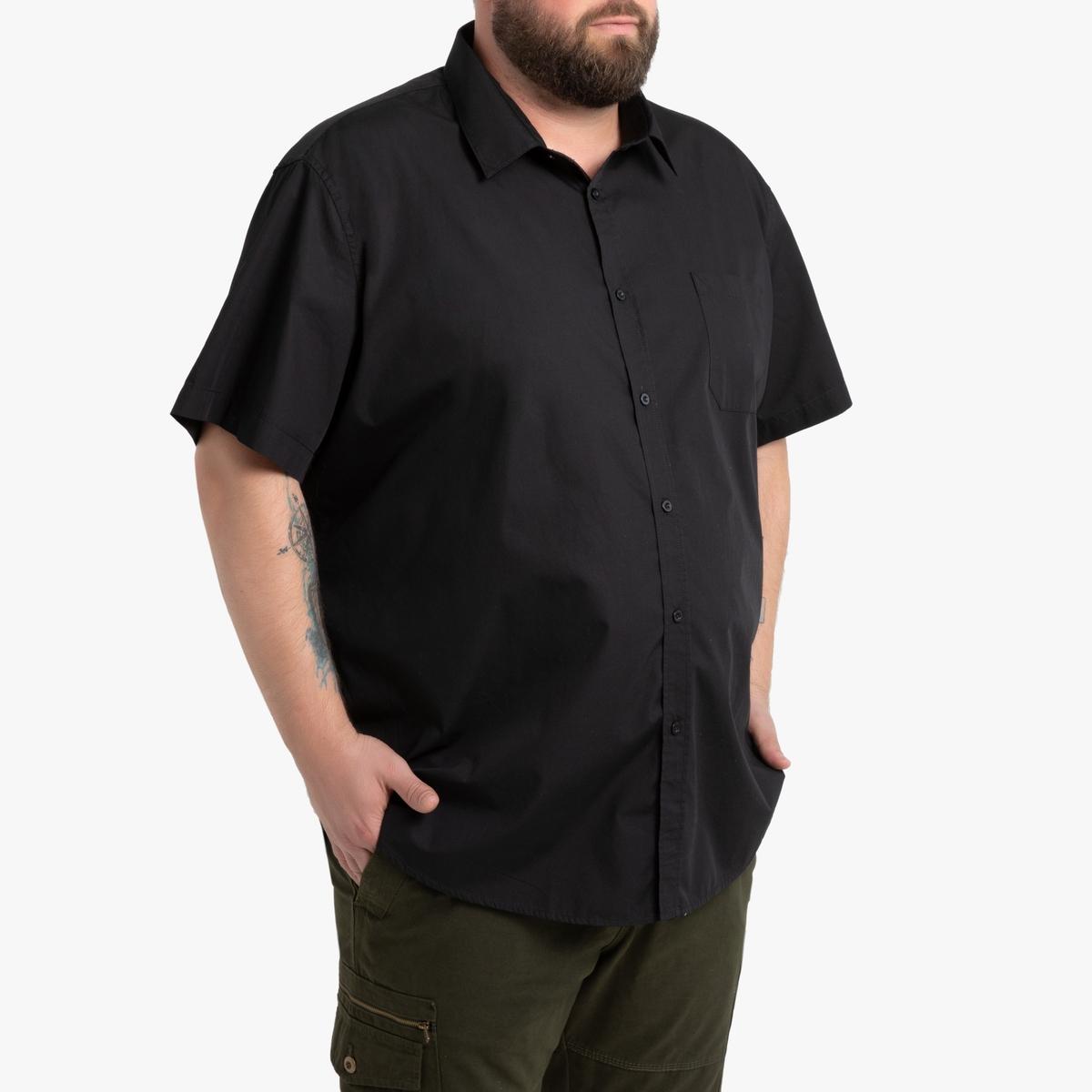 Фото - Рубашка LaRedoute Прямого покроя с рисунком из коллекции больших размеров 51/52 черный юбка laredoute джинсовая прямого покроя xs синий