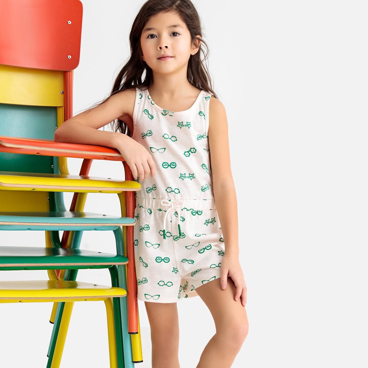 Комбинезон La Redoute С шортами без рукавов с принтом 12 лет -150 см другие пижама la redoute с шортами и цветочным принтом 12 лет 150 см другие