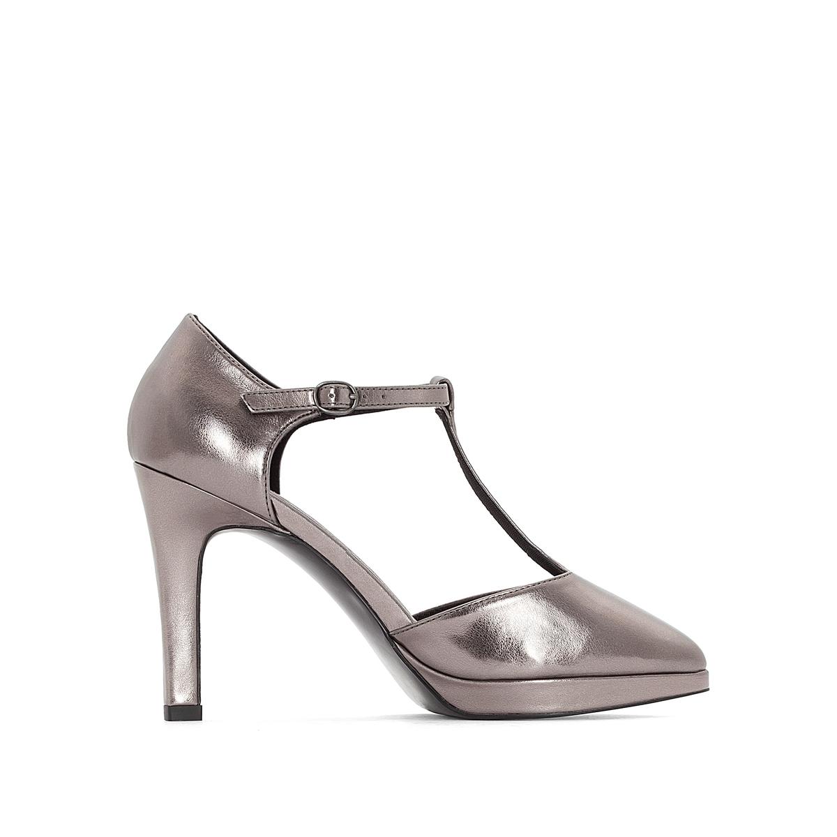 zapatillas Zapatos de tac?n irisados con detalle de plataforma