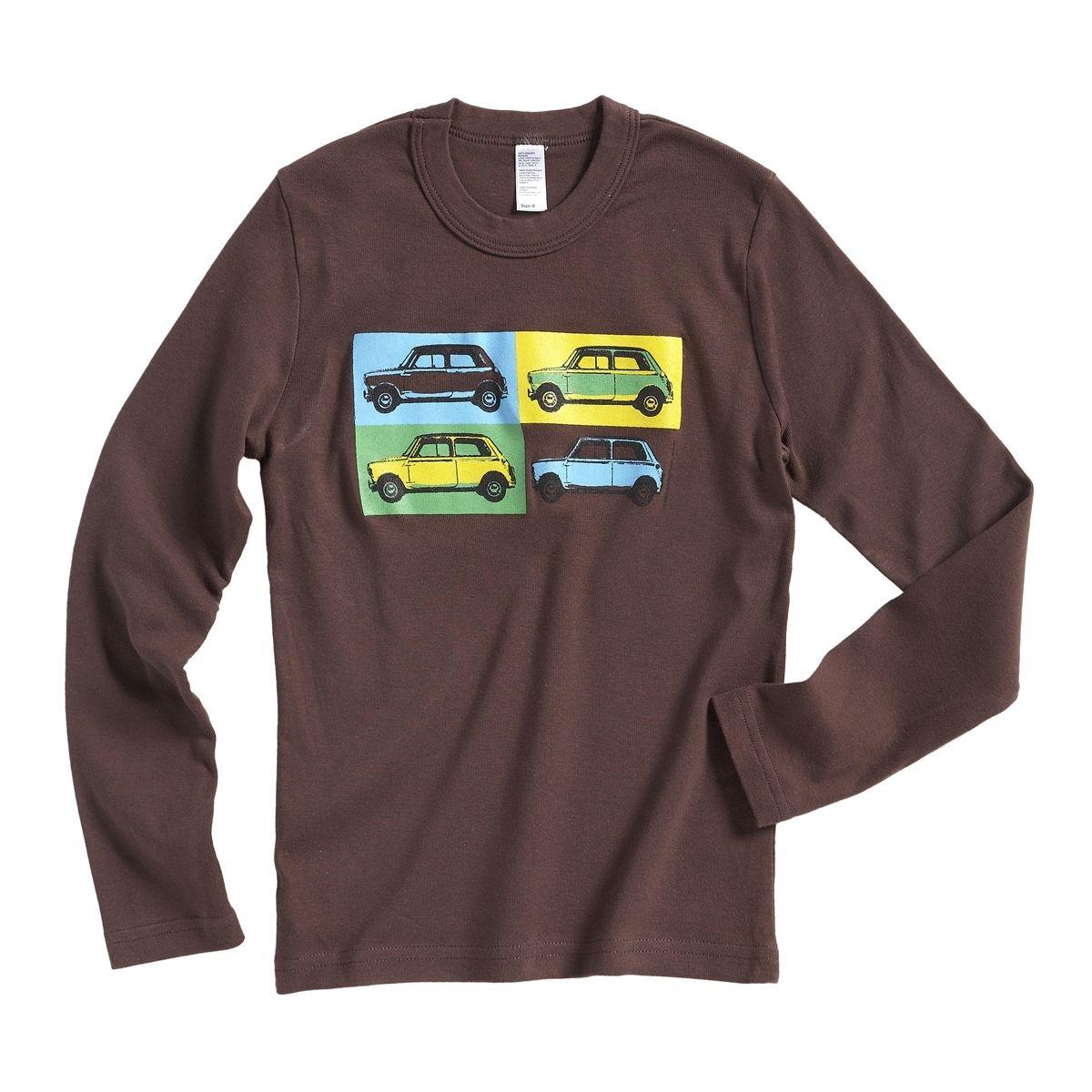 T-shirt Austin Mini pop art chocolat