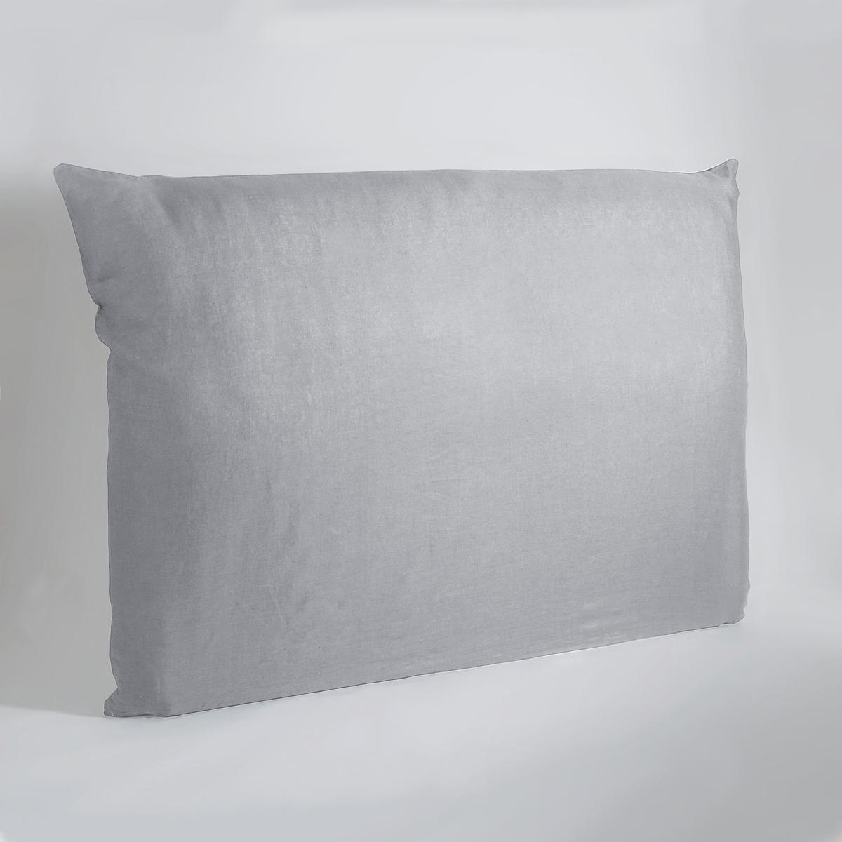 Чехол LaRedoute На изголовье кровати из осветленного льна Mereson 160 см серый