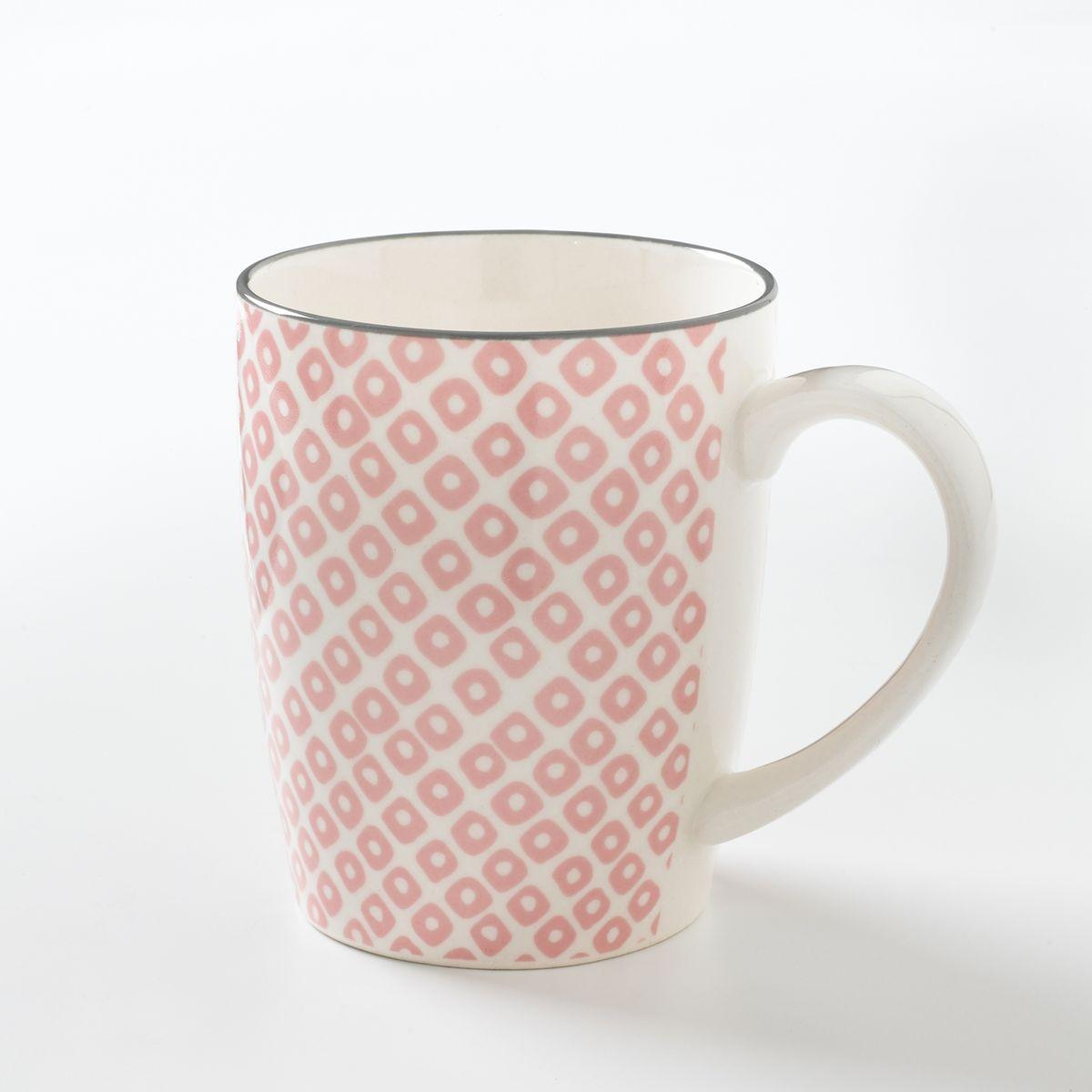 Lot 4 mugs en porcelaine, AKIVA