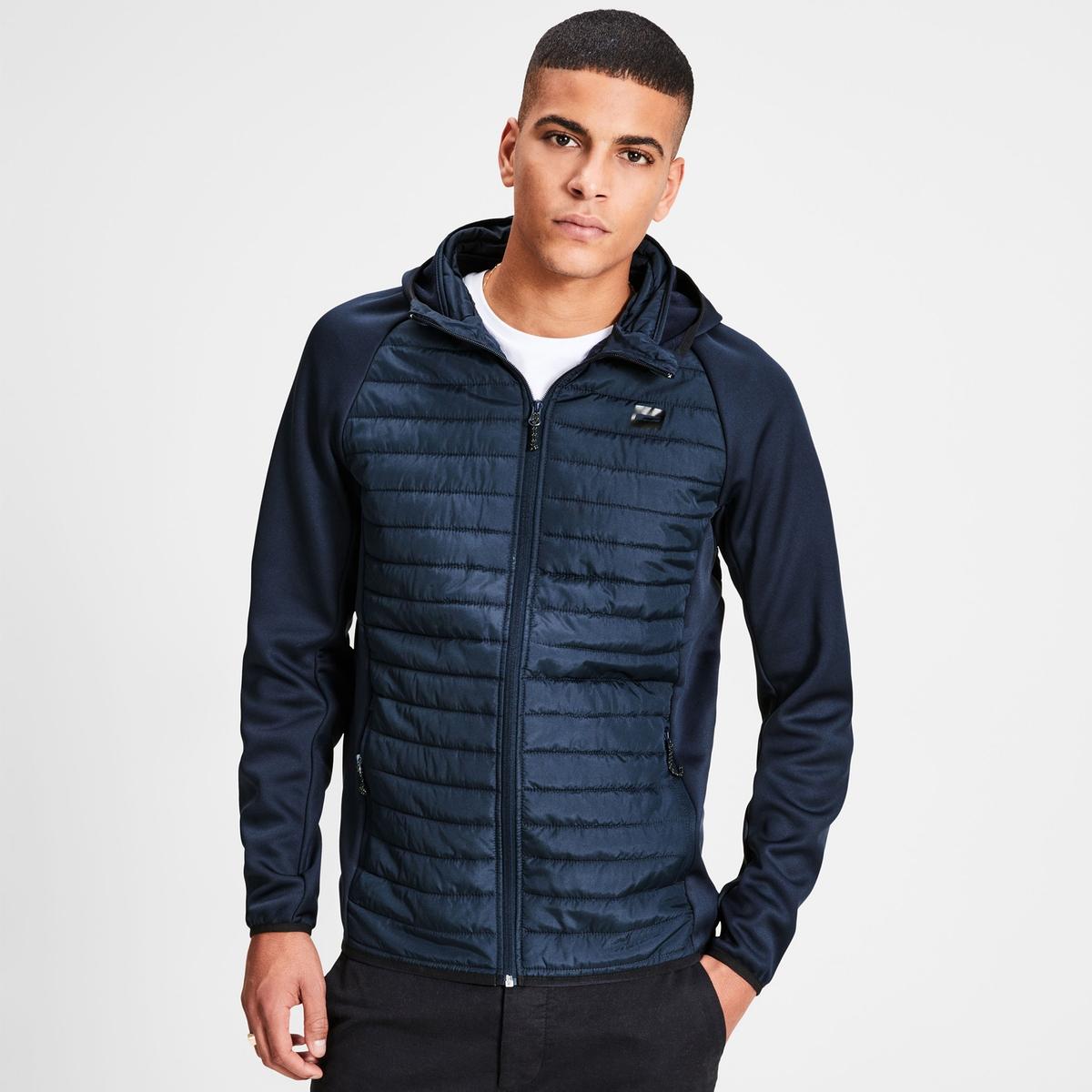Куртка стеганая с капюшоном, модель демисезонная