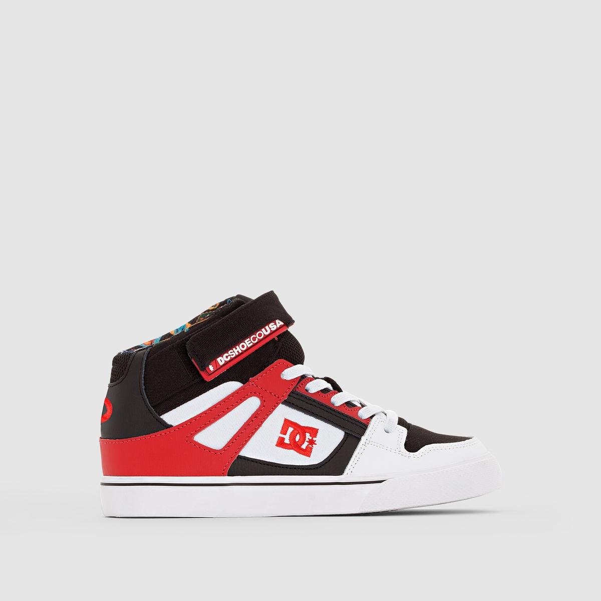 Кеды высокие DC SHOES SPARTAN HIGH EV B SHOE WBDПреимущества : эти кеды от DC SHOES имеют двойную застежку, сочетающую ремешки на липучке и шнурки для облегчения надевания и оптимальной поддержки.<br><br>Цвет: белый/ красный/ черный<br>Размер: 29