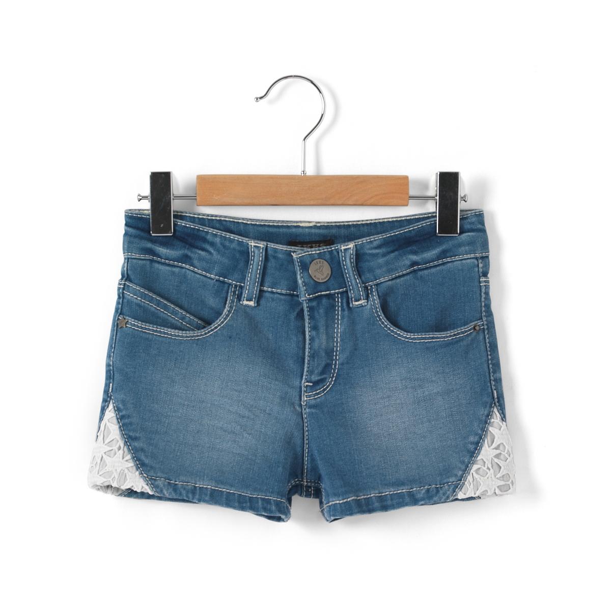 Шорты джинсовые для девочек, 3 - 14 лет