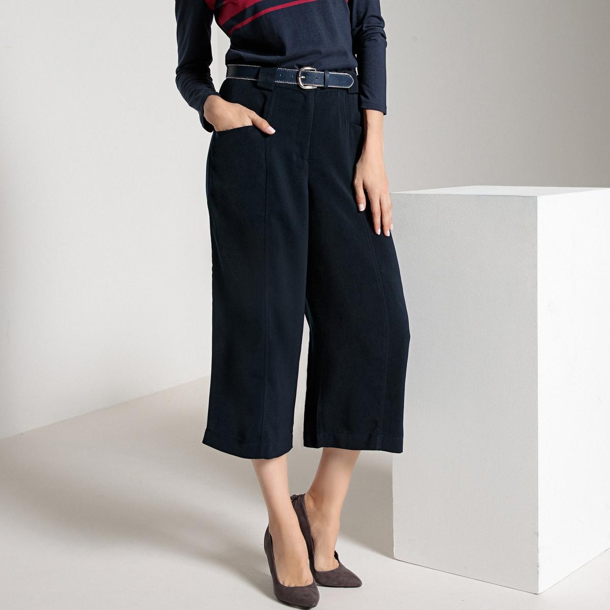 Imagen adicional 3 de producto de Falda pantalón ancha, con pliegue delante y detrás - Anne weyburn