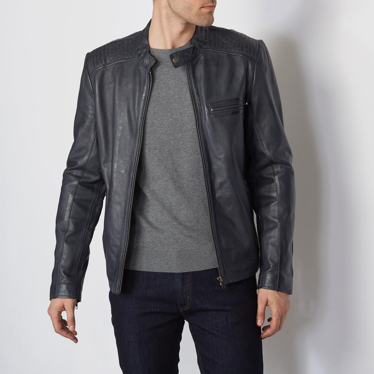 Кожаный блузон