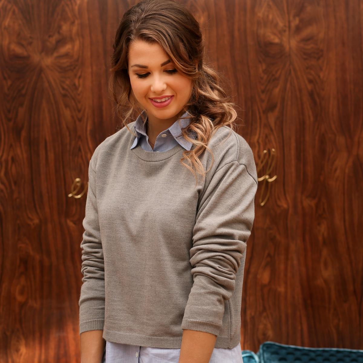 Пуловер короткий, 30% шерсти от Enjoyphoenix x La Redoute