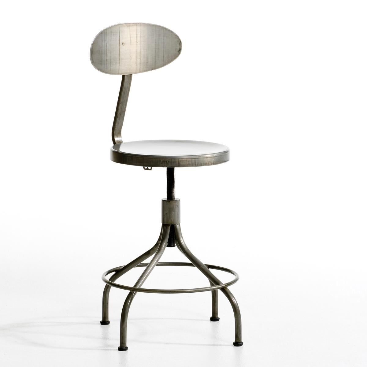 Стул высокий, AlliageСтул высокий Alliage . Этот удобный и прочный стул, выполненный в духе индустриальной мебели, регулируется по высоте и вращается на 360 °.  Описание : - Из металла Размеры : - ?51 x Высота регулируется от 81 до 100 см - Сиденье : 35 см x Высота регулируется от 45 до 64 см<br><br>Цвет: стальной