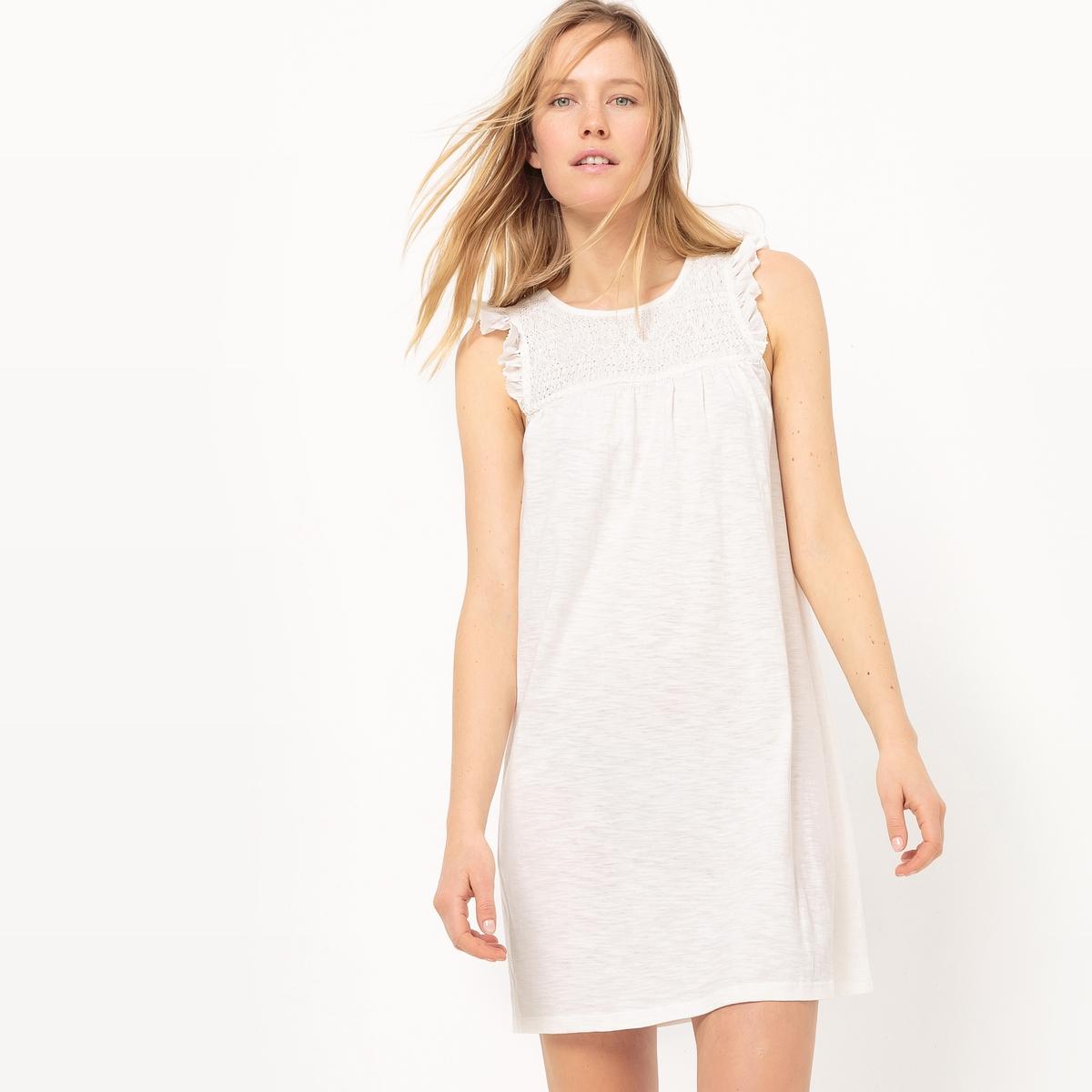 Платье с оборками, до колен, с воланами платье sportalm платья и сарафаны мини короткие