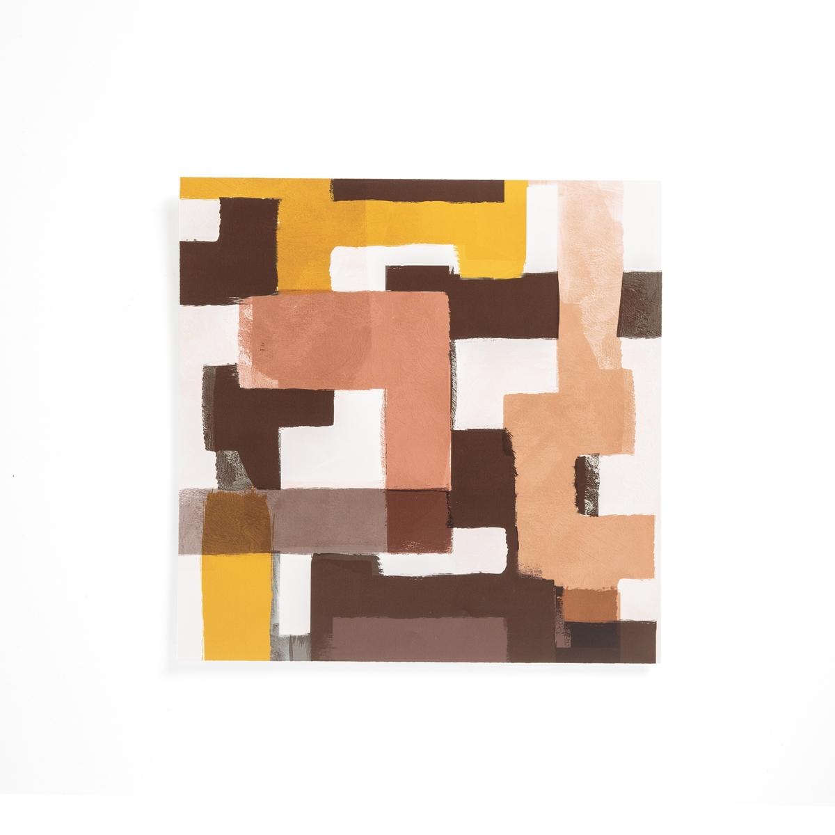 Плакат La Redoute С эффектом картины Tazuna единый размер разноцветный панно la redoute с цветочным рисунком с эффектом картины rosa единый размер разноцветный