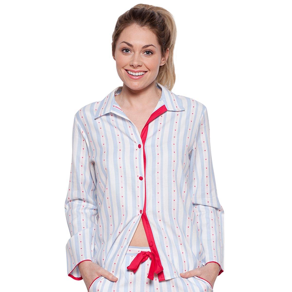 Wren Haut de Pyjama en Coton Rayé