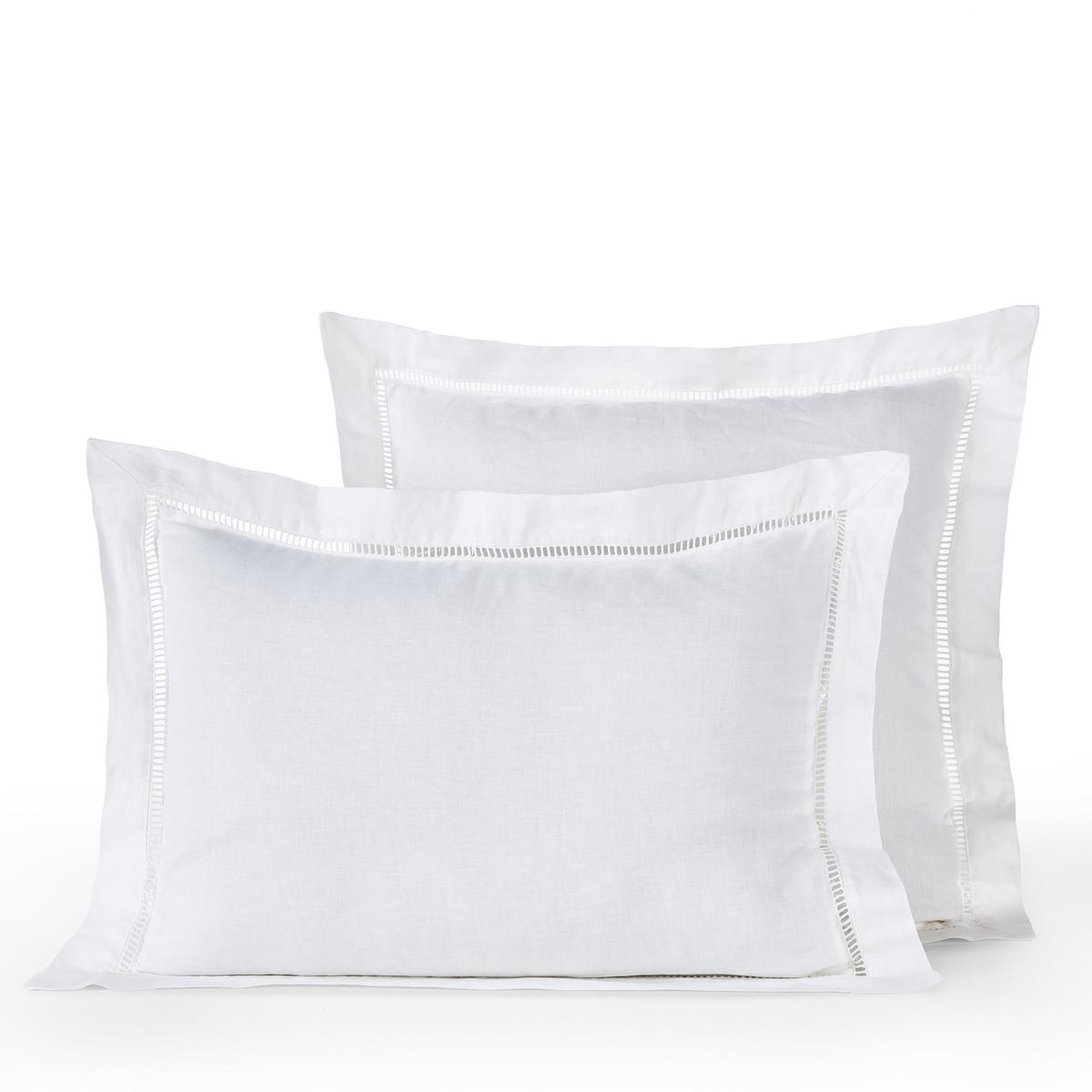 Наволочка La Redoute Scala 65 x 65 см белый чехол la redoute на подушку валик ecaille 45 x 45 см синий