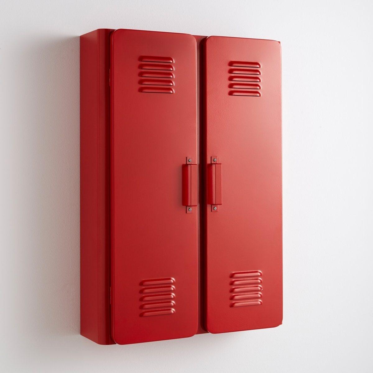 Шкаф для ванной,  HibaЭтот маленький металлический шкаф Hiba, выполнен в индустриальном стиле . Прекрасное дополнение к основной мебели, этот шкаф будет полезен в ванной, прихожей, детской или даже в рабочем кабинете .Описание маленького шкафа Hiba :2 дверцы с декоративными щелями .2 внутренние полки .Характеристики маленького шкафа Hiba :Из металла с эпоксидным покрытием .Металлические ручки .Найдите всю коллекцию Hiba на нашем сайте ..Размеры маленького шкафа Hiba :Общие :Длина : 45 см Высота : 65 смГлубина : 14 смВнутри :Длина : 38 смВысота : 19,7 смГлубина : 10,8 смРазмер и вес с упаковкой :1 упаковка77 x 51 x 17 см, 8,25 кгДоставка :Шкаф Hiba продается готовым к сборке . Доставка вешалки осуществляется до квартиры !Внимание ! Убедитесь, что посылку возможно доставить на дом, учитывая ее габариты.:.<br><br>Цвет: антрацит,красный,розовый