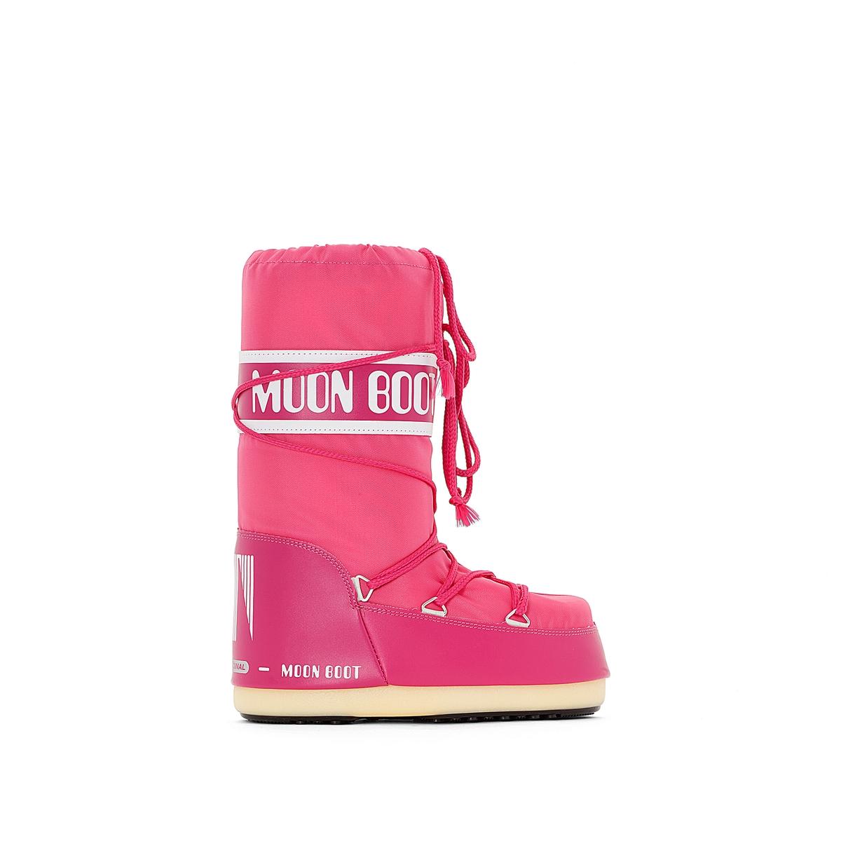 Сапоги на меху NYLON moon boot лыжная одежда