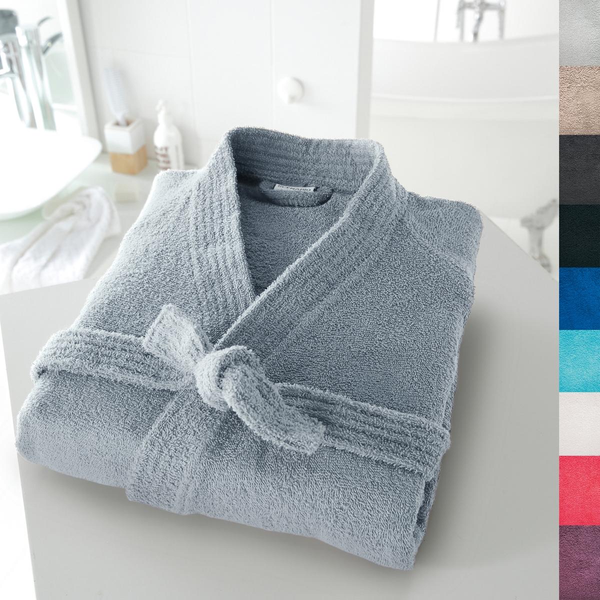 Халат-кимоно 350 г/м?Халат-кимоно с длинными рукавами 350 г/м?, 100% хлопка : нежный, мягкий и отлично впитывающий.яркая цветовая гамма: 18 цветов на выбор.Описание халата:Этот халат имеет знак качества Valeur S?re, протестирован и проконтролирован в лаборатории.2 накладных кармана, пояс под шлевками. Легок в уходе: отлично сохраняет цвет при стирке при 60°. Машинная сушка.Длина халата: 110 - 113 см.<br><br>Цвет: белый,серо-бежевый,серо-синий,синий морской волны,темно-серый<br>Размер: 46/48 (FR) - 52/54 (RUS).50/52 (FR) - 56/58 (RUS).42/44 (FR) - 48/50 (RUS)