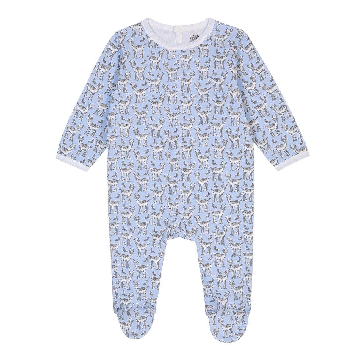Pyjama bébé en coton bio - Imprimé Cerf
