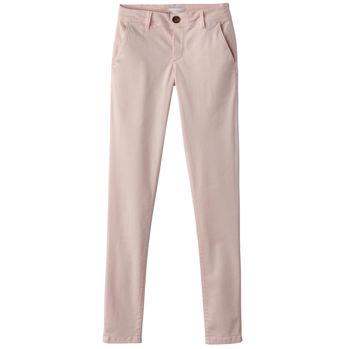 Брюки-чино базовые, однотонныеМатериал : 70% хлопка, 2% эластана, 28% лиоцелла Рисунок : однотонная модель  Высота пояса : стандартная Покрой брюк : брюки-чино<br><br>Цвет: бледно-розовый,темно-синий<br>Размер: L.S
