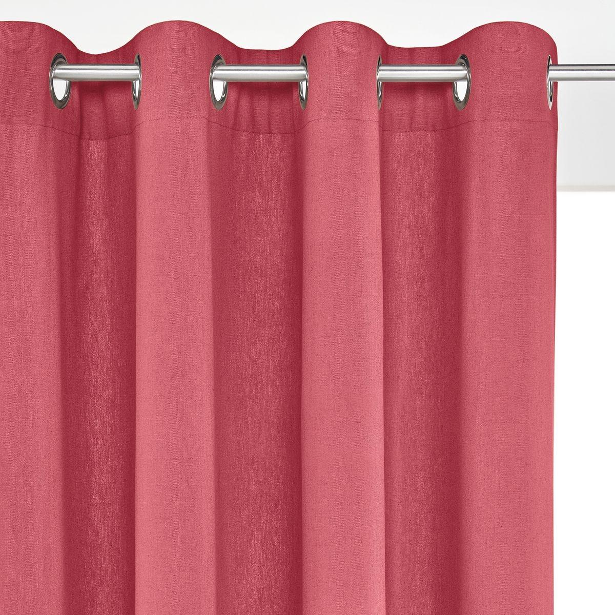 rideau lin coton illets ta ma. Black Bedroom Furniture Sets. Home Design Ideas