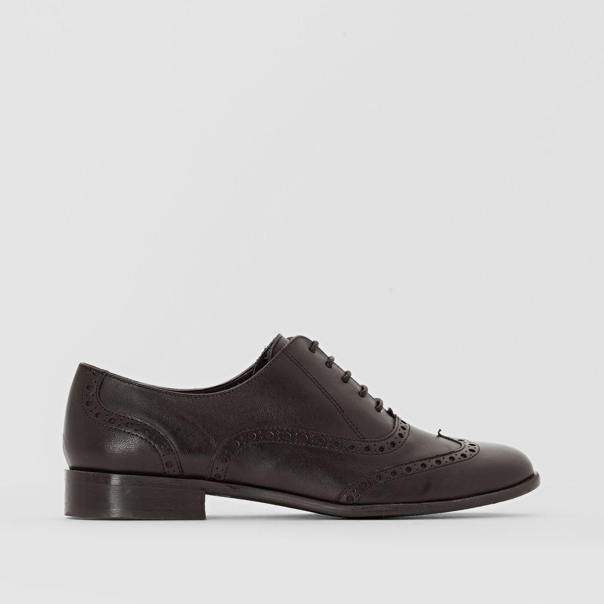 Derbies cuir pied large 38-45