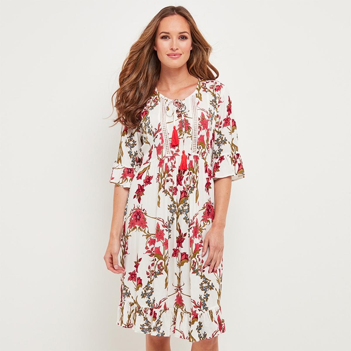 Платье расклешенное с цветочным рисунком dr browns набор из 6 бутылочек с широким горлышком dr browns 240 мл полипропилен арт 455