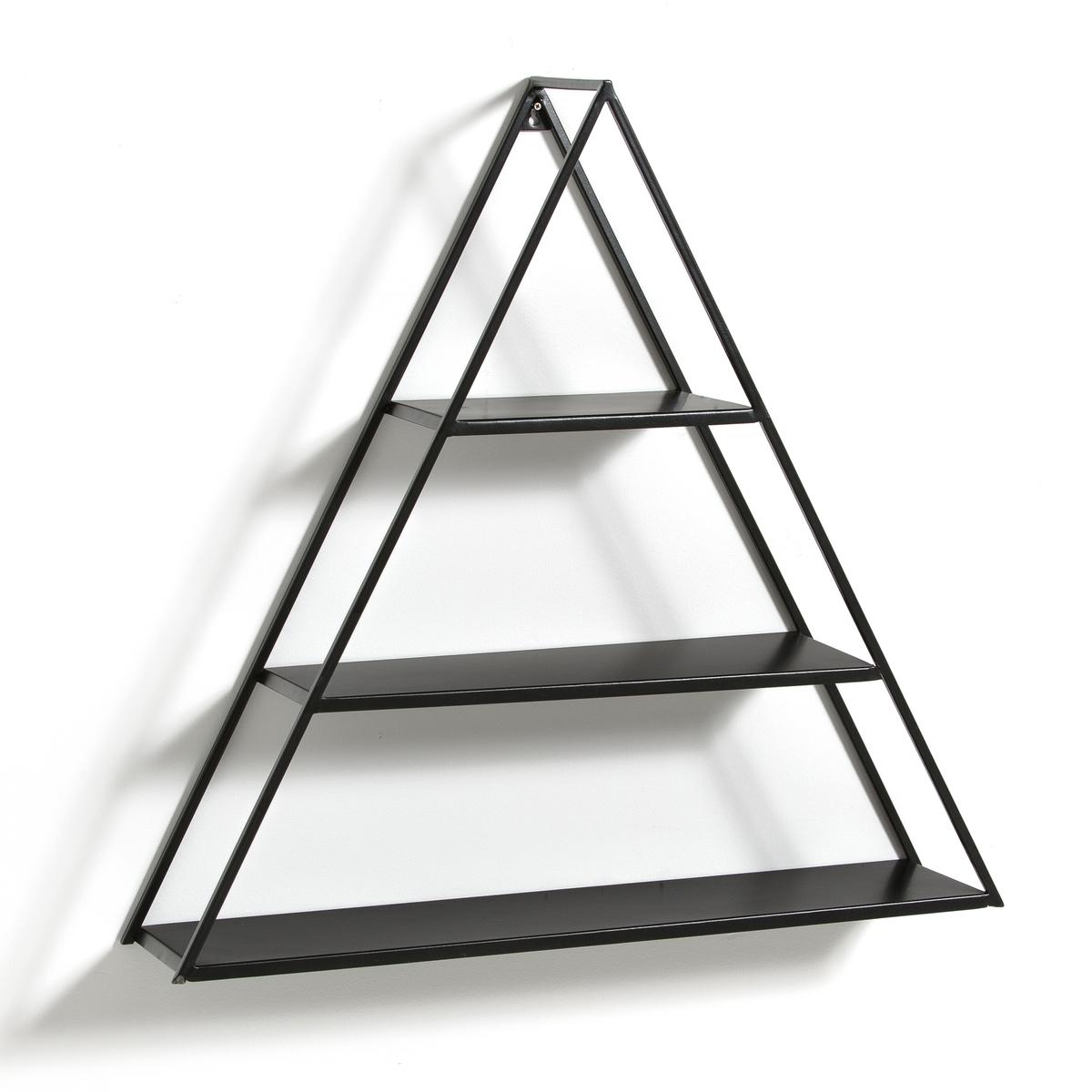 Этажерка треугольная, AFUSХарактеристики треугольной этажерки, Afus :Металл с эпоксидным покрытием Пластина для настенного крепления (шурупы и дюбели в комплект не входят)Другие модели этажерок Вы найдете на laredoute.ruРазмеры треугольной этажерки, Afus:Длина : 69 смВысота : 66,5 смГлубина : 15,5 смРазмер и вес упаковки :1 коробка73 x 19 x 71 см, 4,3 кгДоставка :Треугольная этажерка Afus продается в разобранном виде.  Возможна доставка до квартиры по предварительному согласованию!Внимание ! Убедитесь, что посылку возможно доставить на дом, учитывая ее габариты<br><br>Цвет: черный