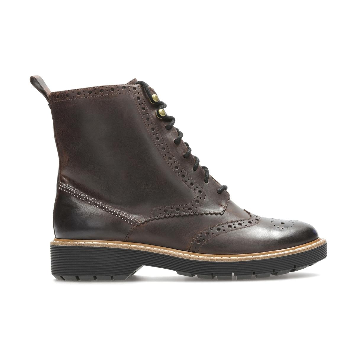 Ботинки кожаные на шнуровке Witcombe Flo ботинки женские зимние на шнуровке без каблука купить