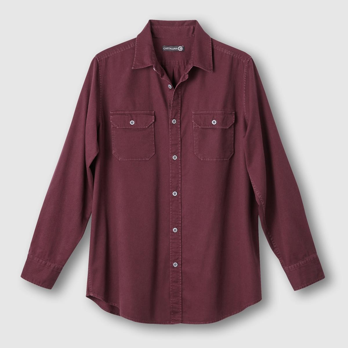 Рубашка однотонная<br><br>Цвет: бордовый