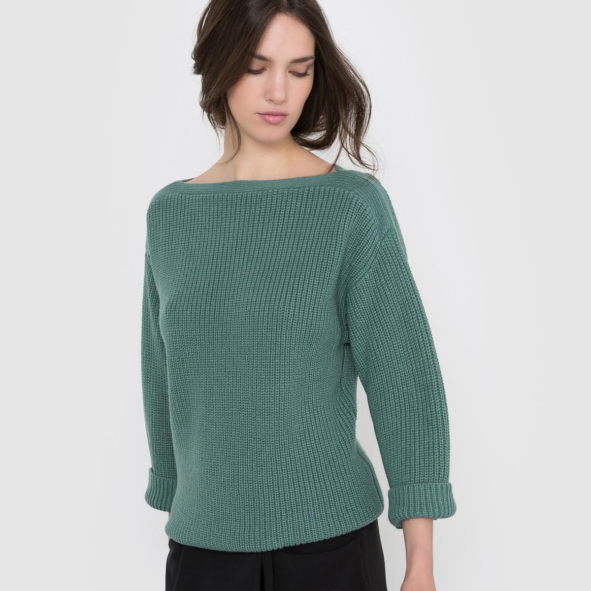 Пуловер широкого покроя