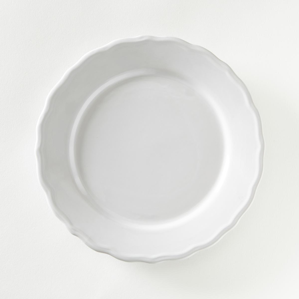 Комплект из 4 тарелок, AJILA LaRedoute La Redoute единый размер белый 3 настенных la redoute вешалки с крючками agama единый размер белый