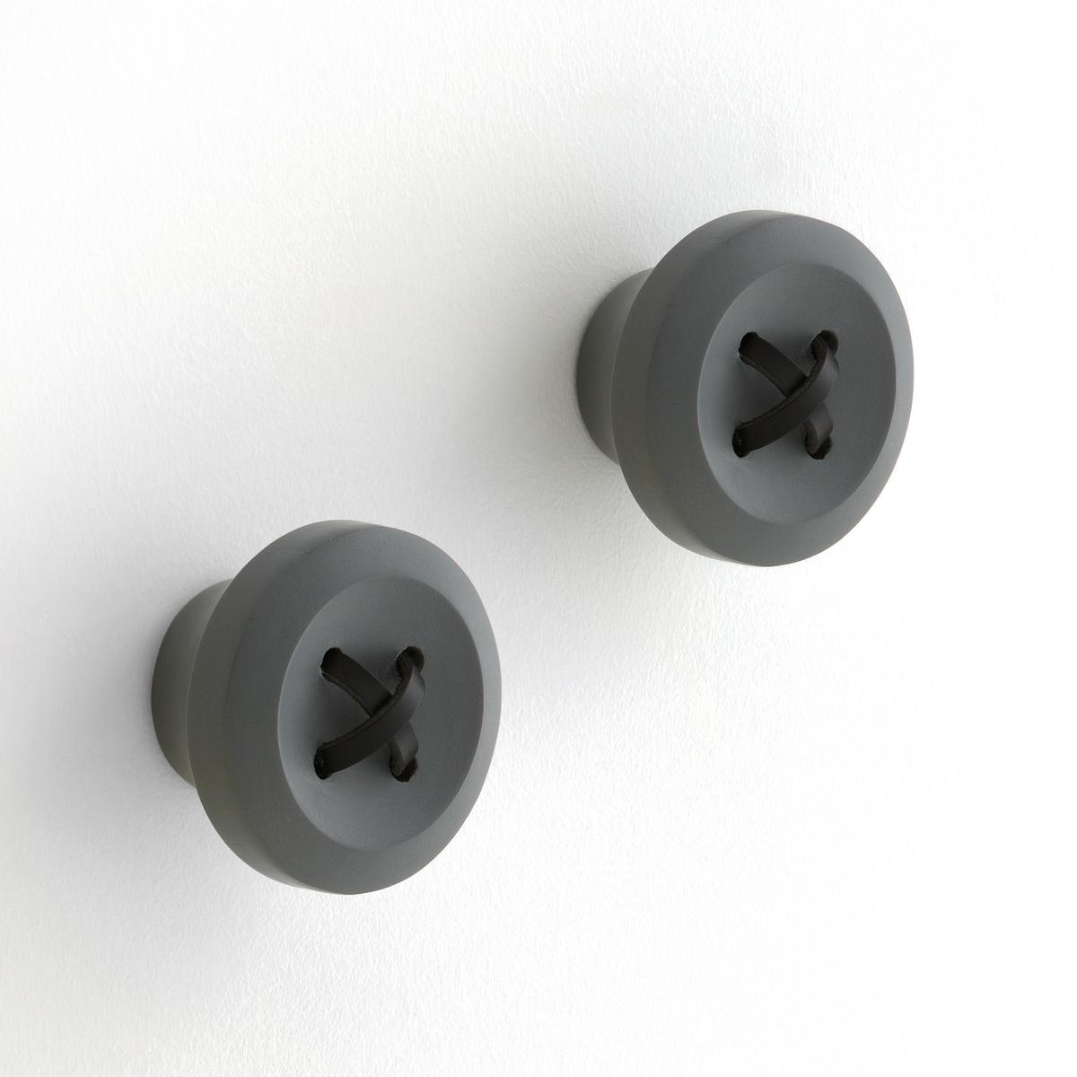 Вешалка MalarkoВешалка Malarko. Оригинальная вешалка среднего размера в форме пуговицы с кожаным шнурком. Крепление на стену при помощи планки (шурупы и дюбеля в комплект не входят). . : ?8 x Г5 см.<br><br>Цвет: серый<br>Размер: единый размер