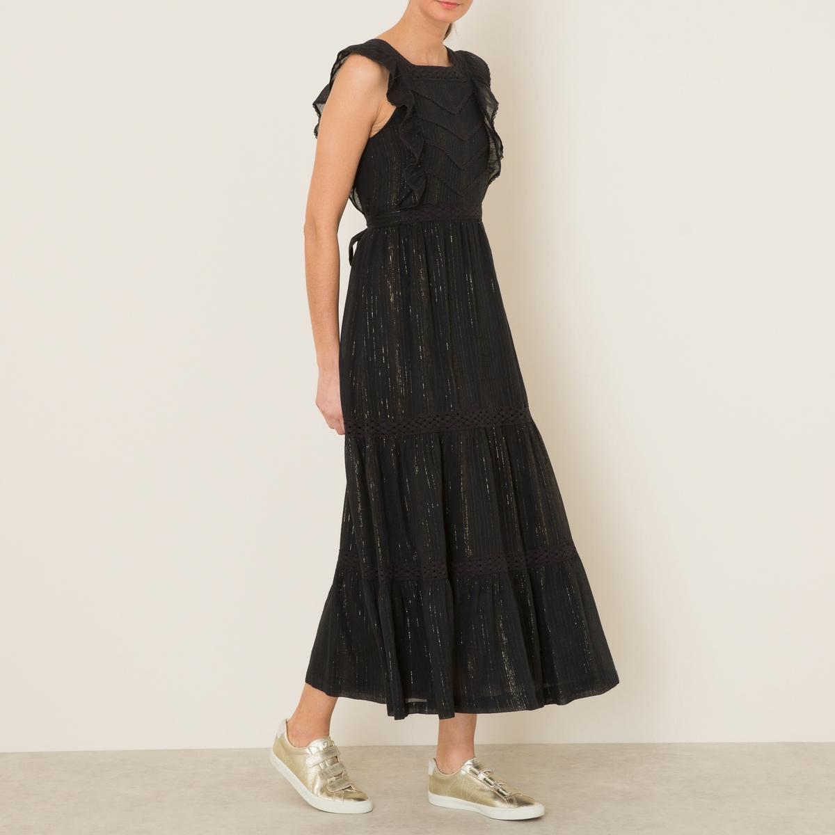 Платье  BELLA BISСостав и описание    Материал : 98% хлопка, 2% люрексаМарка : S?UR<br><br>Цвет: черный
