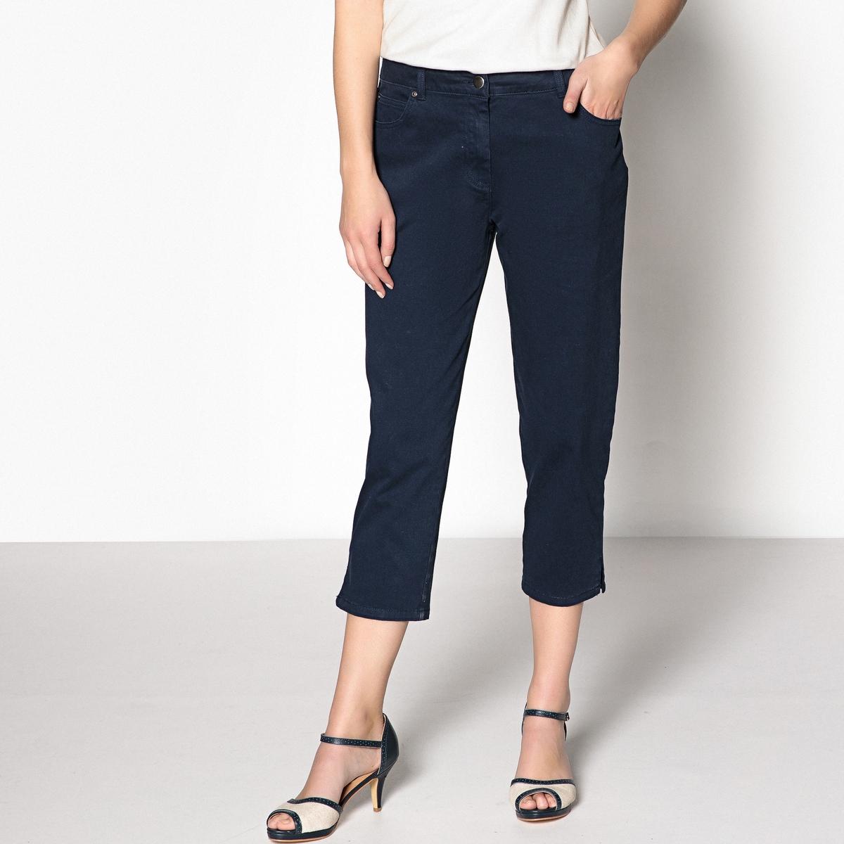 Pantaloni a pinocchietto ricamati, cotone stretch