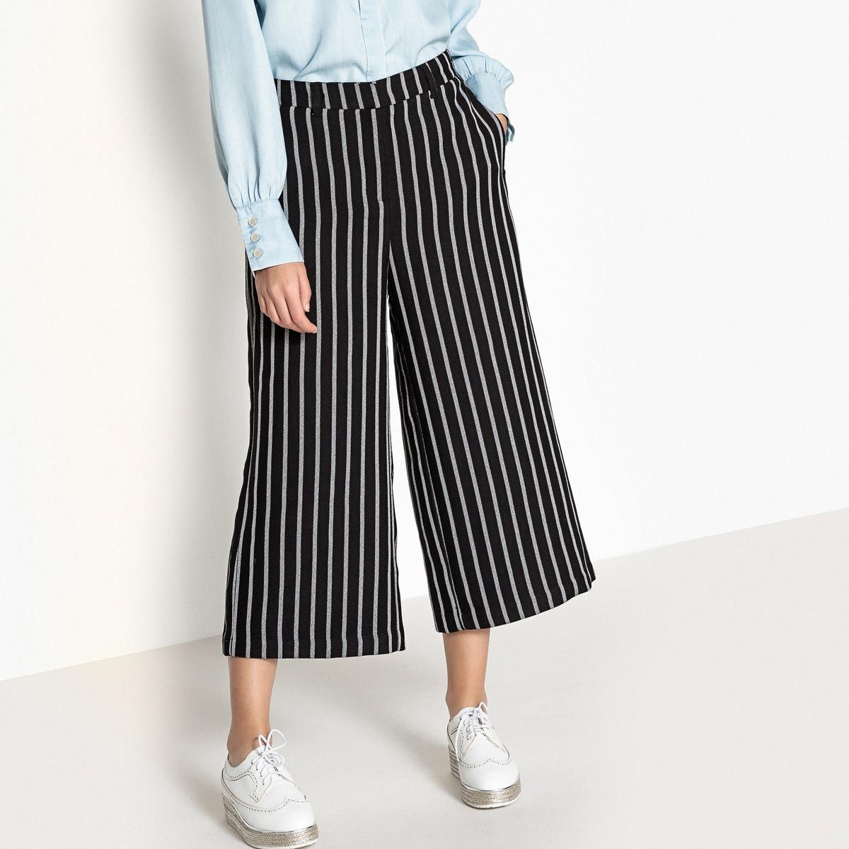 Юбка-брюки прямая в полоску
