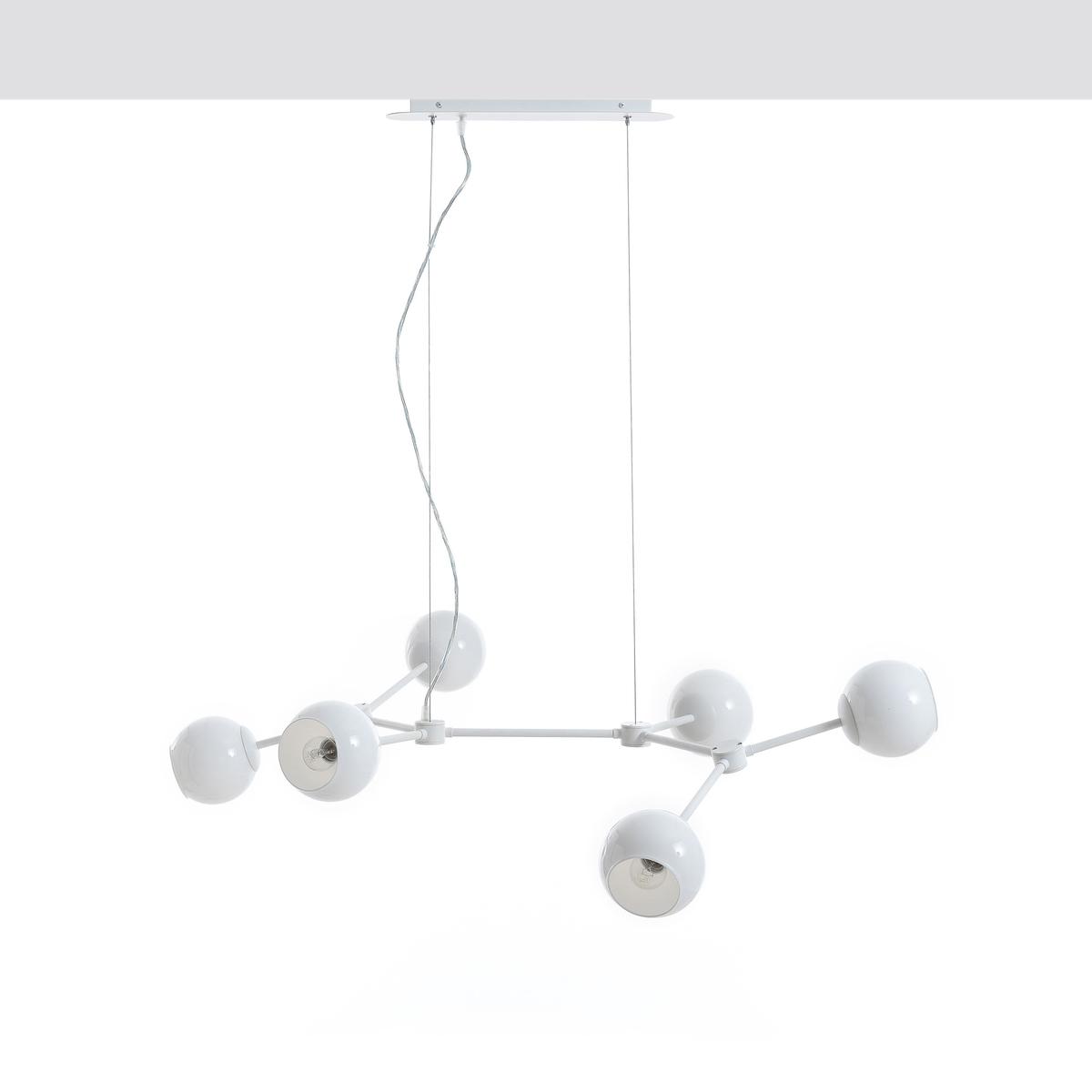 Светильник белый, AtomiumОписание :- Из белого металла и белого молочного стекла- Патрон E14 для лампочки макс 40 Вт (не входит в комплект) . Этот светильник совместим с лампочками    энергетического класса   A-B-C-D-E  .  Размеры :- Ш114 x В40 x Г66 см (при обычном расположении). Размеры и вес упаковки : - Ш100 x В17 x Г70 см, 5 кг Доставка : Возможна доставка до квартиры по предварительной договоренности!Внимание   ! Убедитесь в том, что товар возможно доставить на дом, учитывая его габариты(проходит в двери, по лестницам, в лифты).<br><br>Цвет: белый
