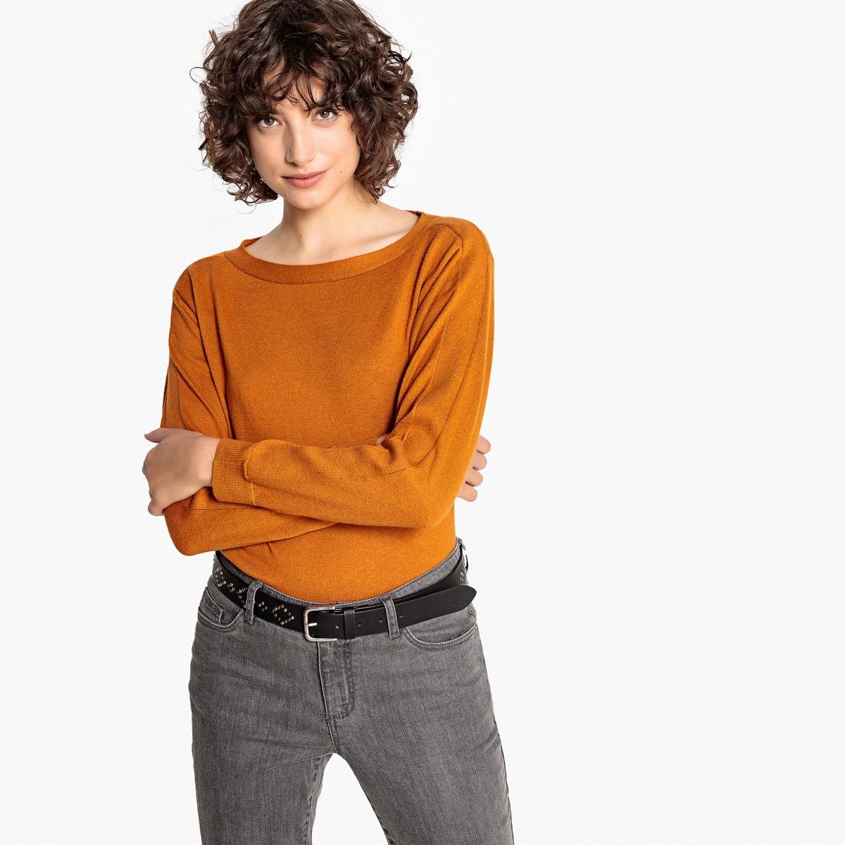 Jersey cuello barco, algodón y cachemir